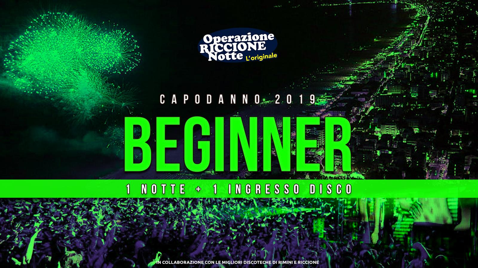 """Capodanno 2019 Riccione Rimini """"Pacchetto Beginner"""" Hotel 1 Notte + Discoteche"""