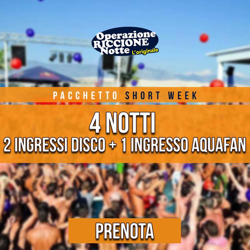 Pacchetto SHORT WEEK1