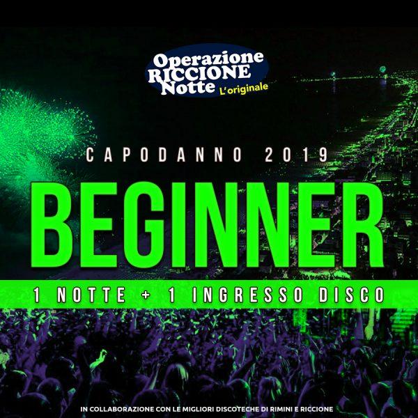 Pacchetto hotel + discoteche riccione capodanno 2019 Beginner quadrata