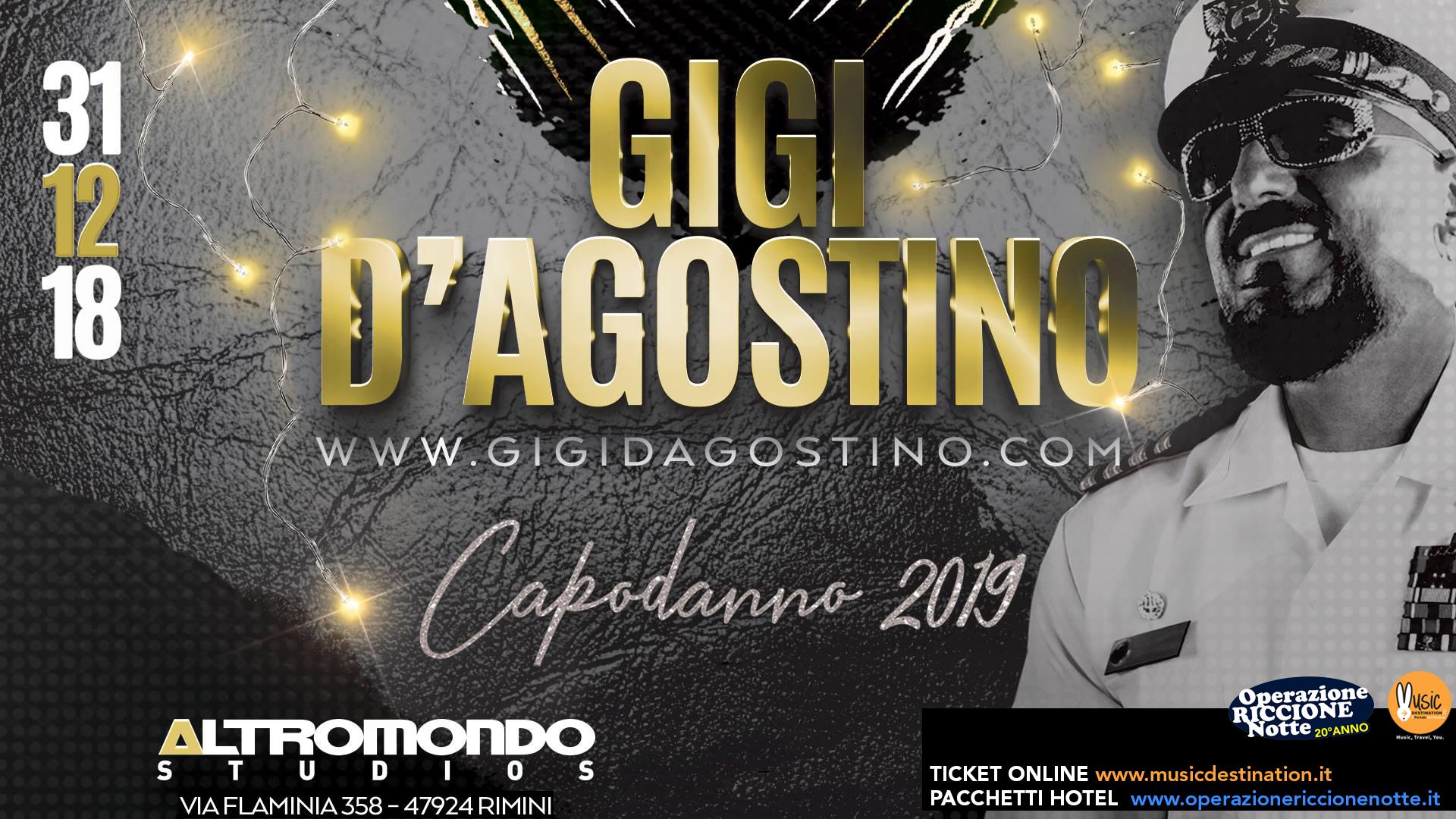 Capodanno 2019 Altromondo Studios Rimini Con Gigi D'agostino