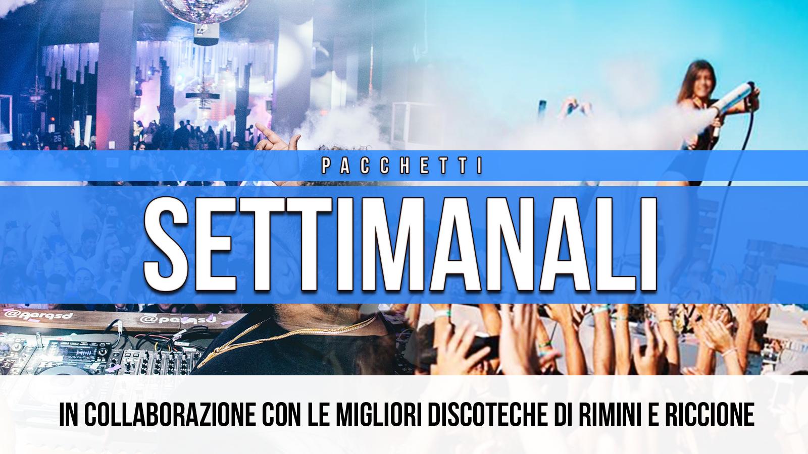 Pacchetti Settimanali Riccione Rimini Hotel + Discoteche