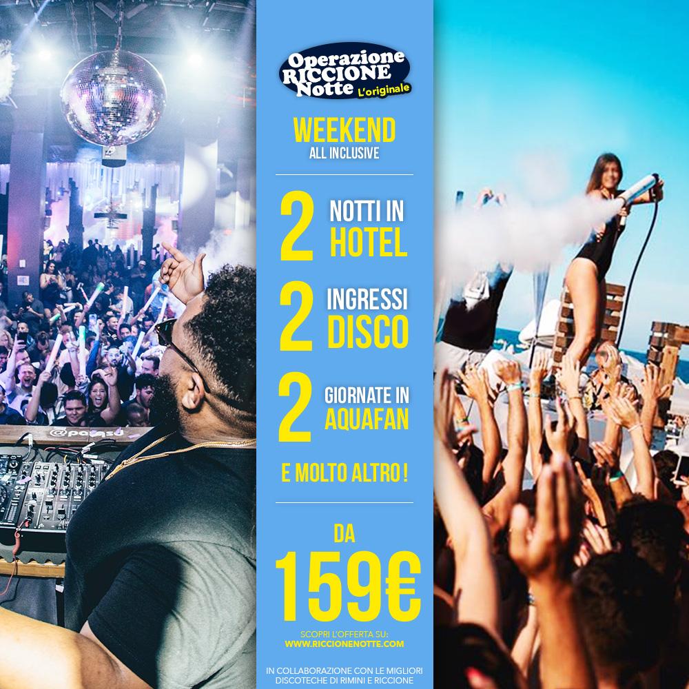 pacchetto weekend riccione hotel + discoteche all inclusive